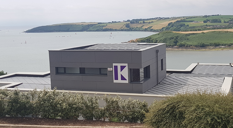 PROJECT: BRIAN K BUILDERS, KINSALE MATERIAL: VM QUARTZ PLUS SYSTEM: TRADITIONAL STANDING SEAM INSTALLER: WEATHERSEAM LTD, CORK.